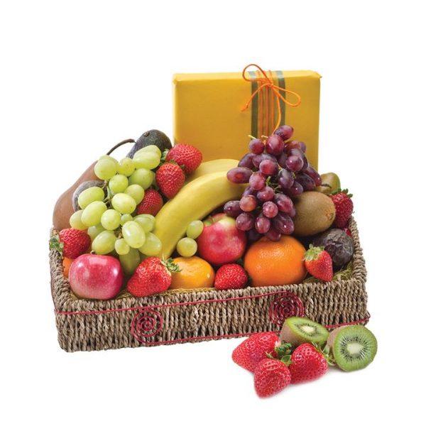 Twice the Treat - Fruit basket with Chocolates