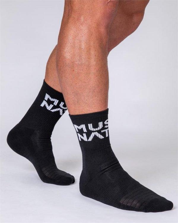 Unisex Crew Socks - 2 Pack (Black, White)