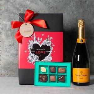 Valentine Veuve and Premium Chocolates