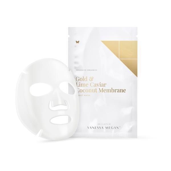 Vanessa Megan Gold & Lime Caviar Coconut Membrane Sheet Mask