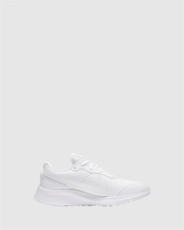 Varsity Leather Gs White
