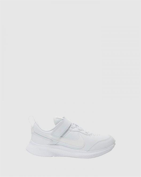 Varsity Leather Ps White