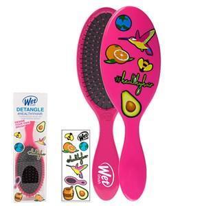 WetBrush Detangler Sticker Hair Brush Pink