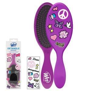 WetBrush Detangler Sticker Hair Brush Purple