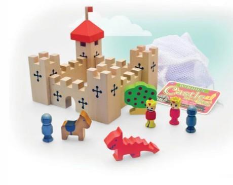 Wooden Castle in Bag