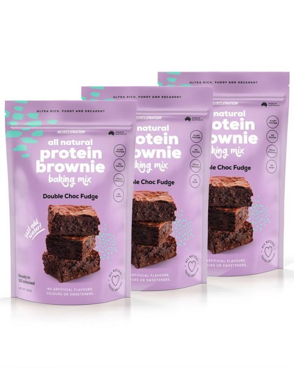 3 PACK - All Natural Protein Brownie Baking Mix - DOUBLE CHOC FUDGE - Bundle