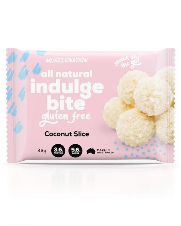 All Natural Indulge Bite COCONUT SLICE - BOX OF 5