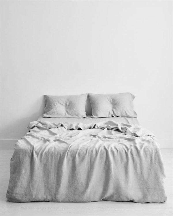 Fog 100% Flax Linen Bedding Set - Bed Threads
