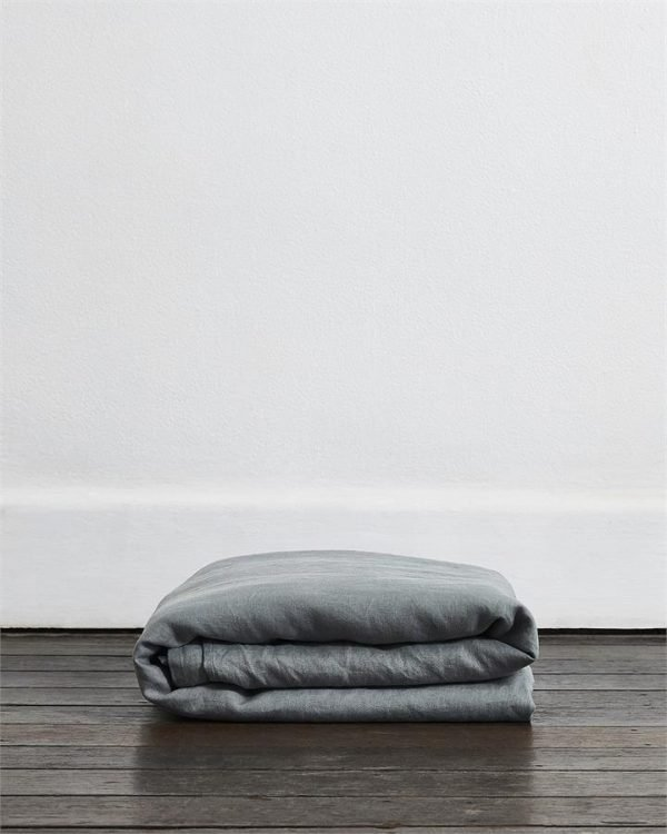Mineral 100% Flax Linen Duvet Cover - Bed Threads