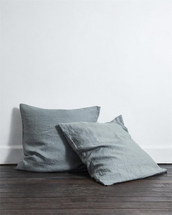 Mineral 100% Flax Linen European Pillowcases (Set of Two) - Bed Threads