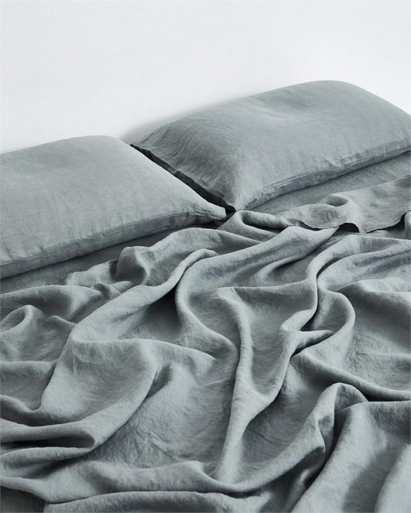 Mineral 100% Flax Linen Fitted Sheet - Bed Threads