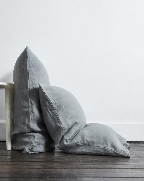 Mineral 100% Flax Linen Pillowcases (Set of Two) - Bed Threads
