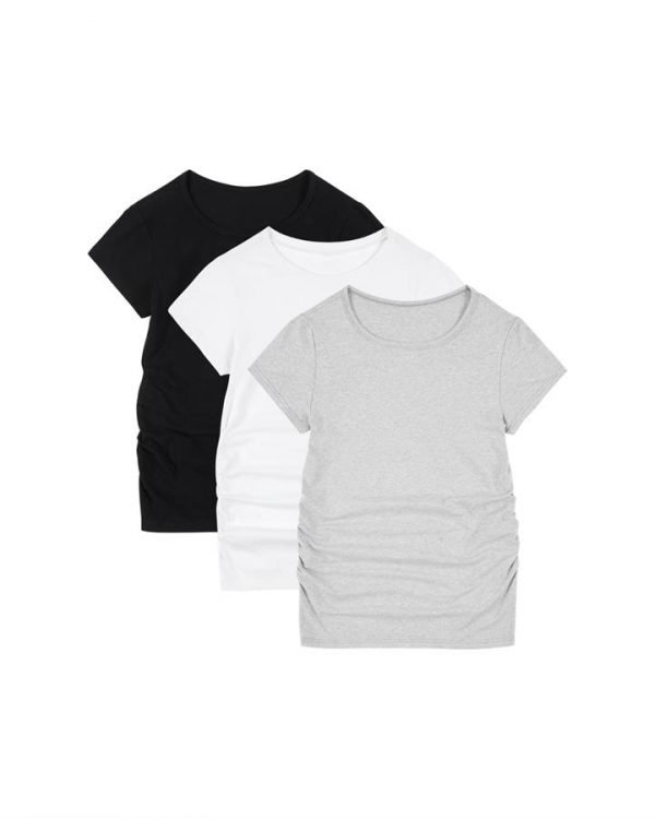 [Multi Pack] Classic Cotton Maternity T-Shirt Set