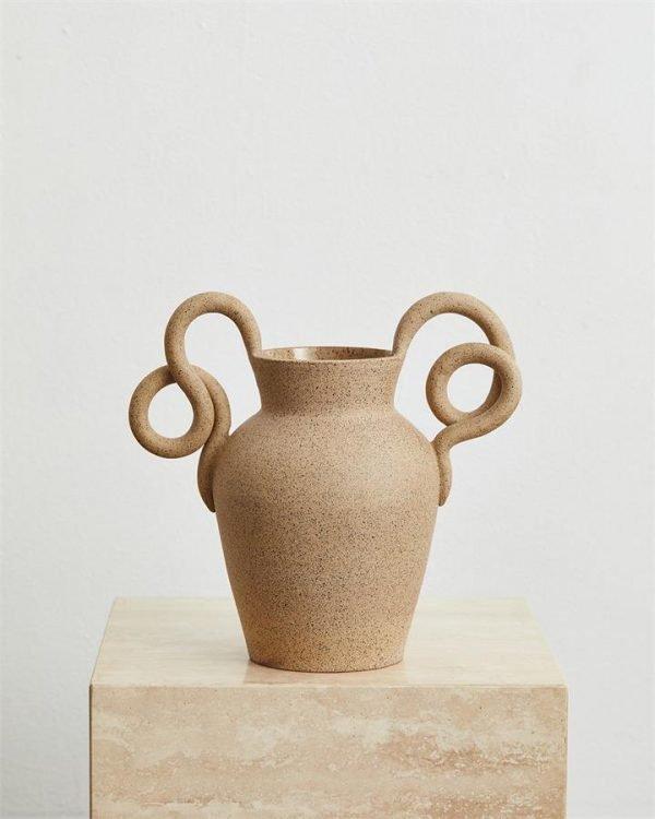 Objet Aimée Ophidian Vase in Speckle - Bed Threads