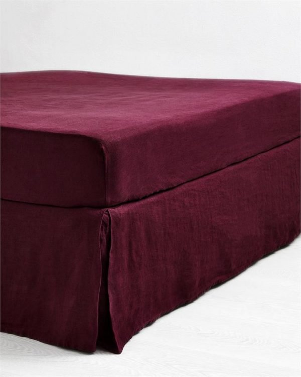 Ruby 100% Flax Linen Valance - Bed Threads