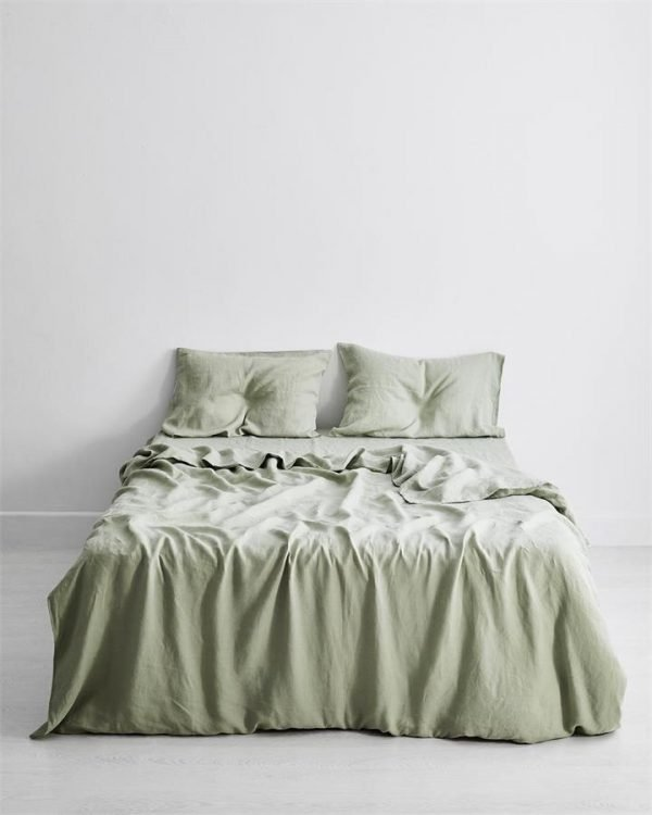 Sage 100% Flax Linen Bedding Set - Bed Threads