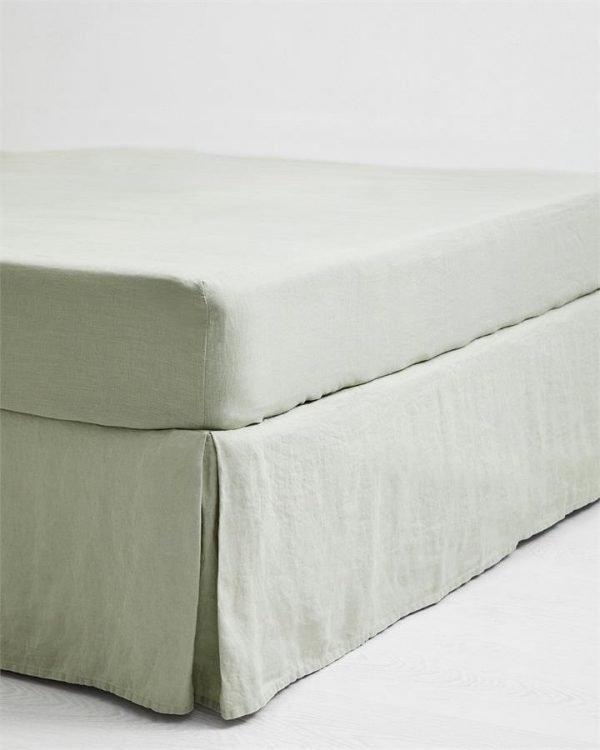 Sage 100% Flax Linen Valance - Bed Threads