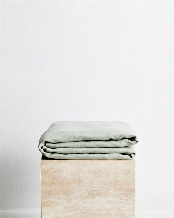 Sage 100% French Flax Linen Throw - Bed Threads