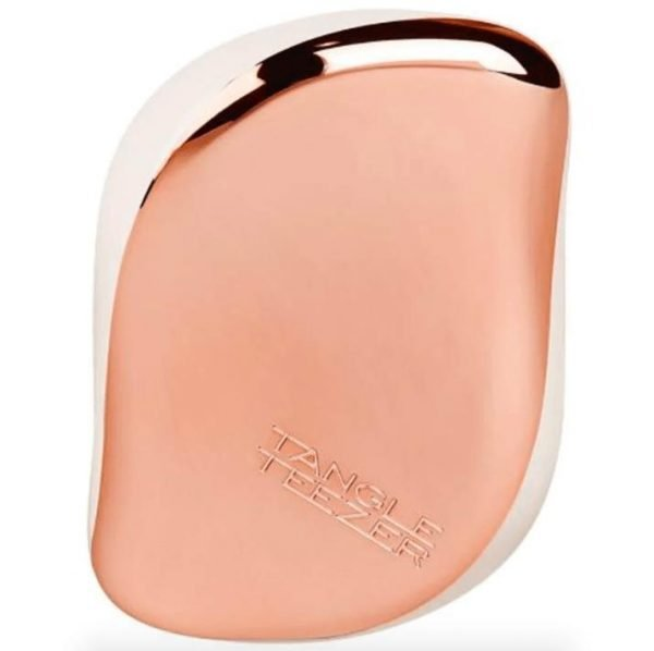 Tangle Teezer Compact Styler Detangling Hairbrush Rose Gold and Ivory
