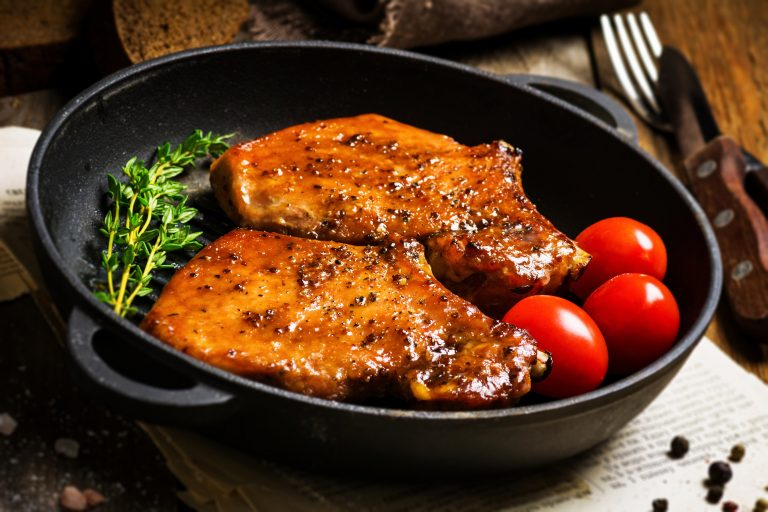 BBQ Bourbon Glazed Pork Chops