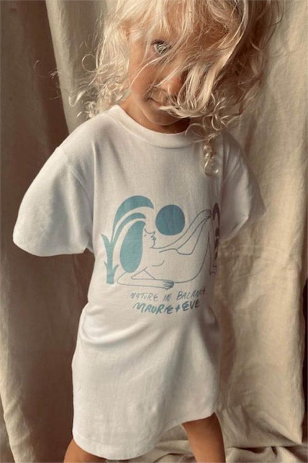 100% ORGANIC COTTON NATURE IN BALANCE KIDS TEE - L