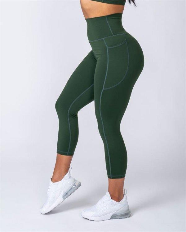 7/8 Pocket Leggings - Moss - XL