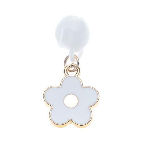 Clipacharm Enamel Pendants - Flower White