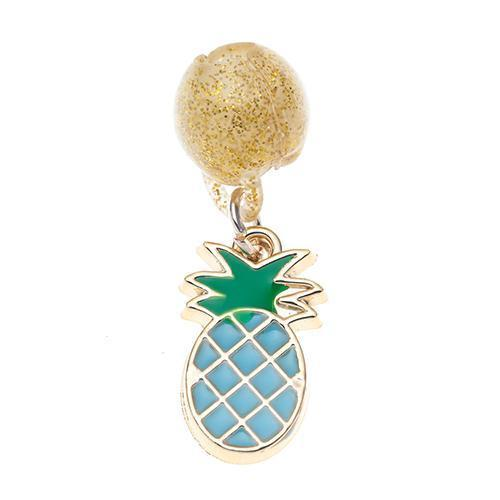 Clipacharm Enamel Pendants - Pineapple Blue