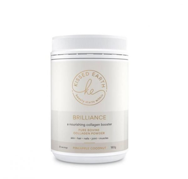 Kissed Earth Brilliance Pineapple Coconut Collagen Powder 180g