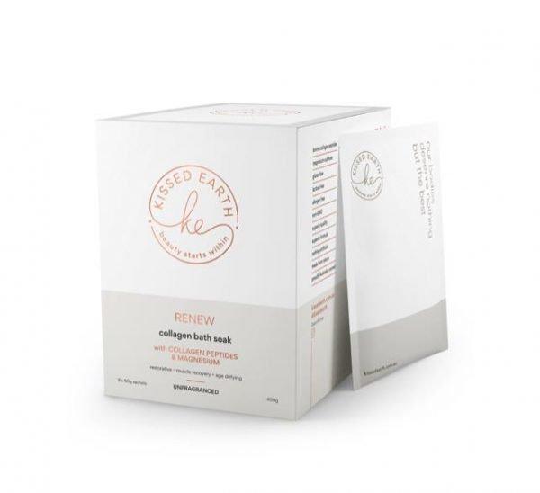 Kissed Earth Renew Collagen Bath Soak 8 x 50g Sachets