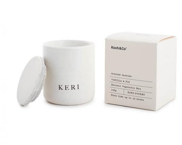 Koch & Co Evelyn Vanilla & Fig Large Scented Candle 105g