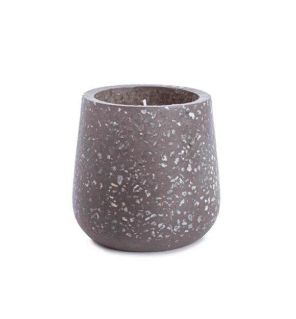Koch & Co Terrazzo Ambergris Grey Large Scented Candle
