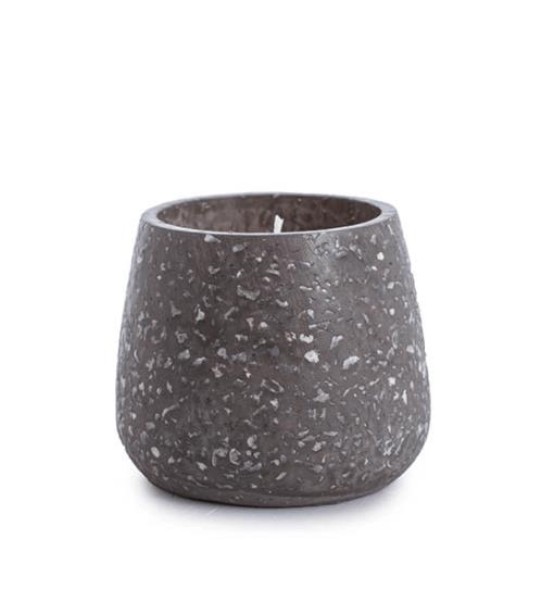 Koch & Co Terrazzo Ambergris Grey Medium Scented Candle