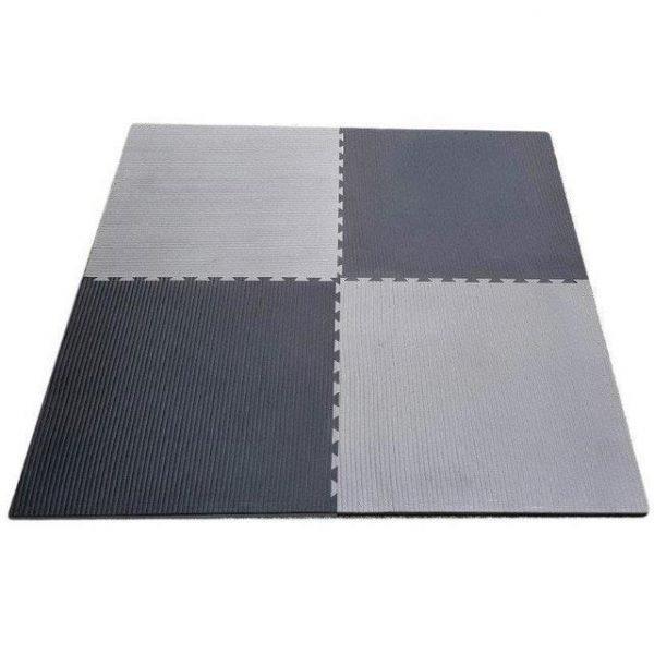 7x Interlocking Jigsaw Mats 3cm Black / Grey (Package Price)