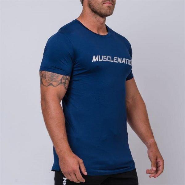 ClimaFlex Training Tshirt - Navy Silver - L