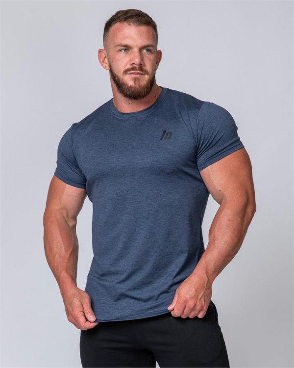 ClimaFlex Tshirt - Navy Marl - L