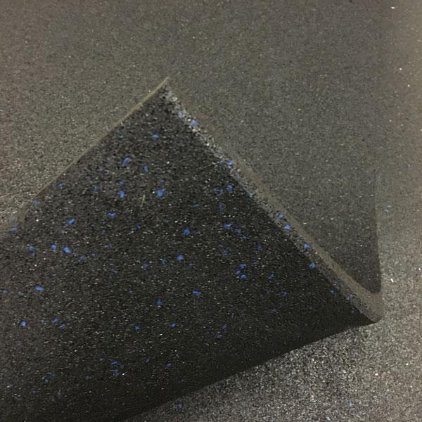 Commercial Rubber Gym Flooring Black with Blue Fleck