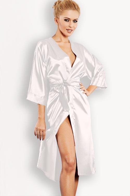 DKaren Luxurious Silky Satin Robe