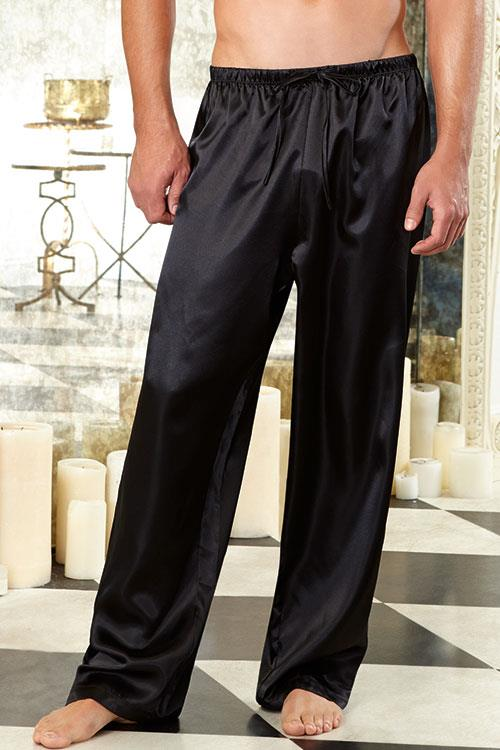 Dreamgirl Black Charmeuse Pants