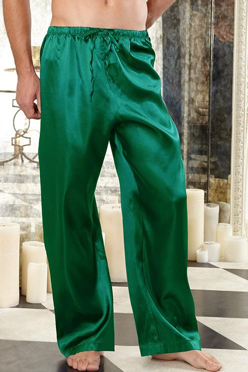 Dreamgirl Green Charmeuse Pants