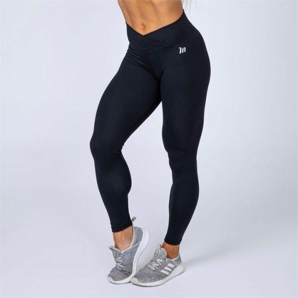 HBxMN V-Style Full Length Scrunch Leggings - Black - M