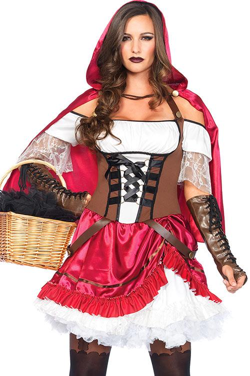 Leg Avenue 2 Pce Rebel Riding Hood Costume