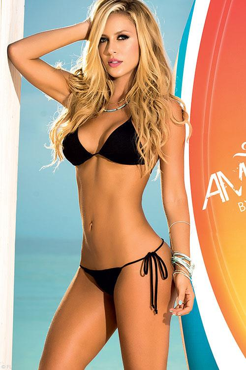 Mapale Swim & Beachwear Dare to go Bare Black Thong Bikini 2-Pce