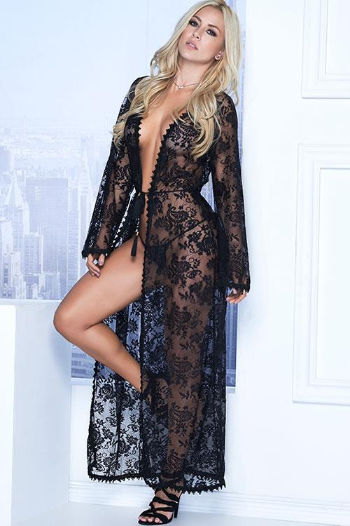 Mapale by Espiral Classic Full Length Robe with G-String