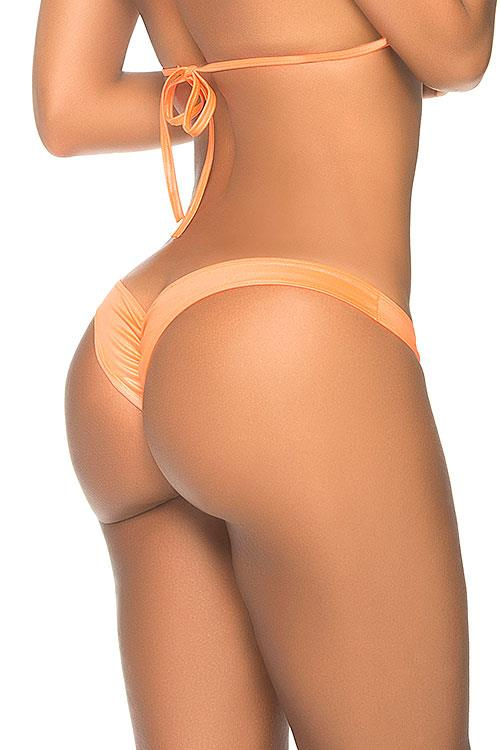Mapale by Espiral The Perfect Wet Orange Mini Scrunch Thong