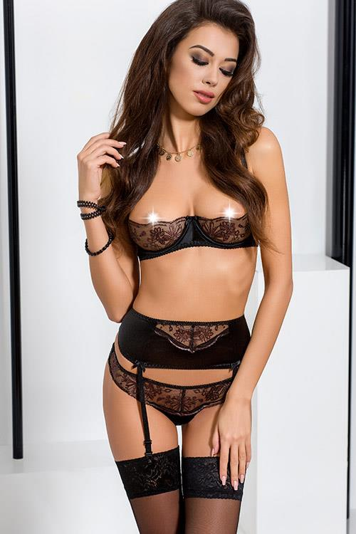 Passion Brida Black Luxurious Bra Set