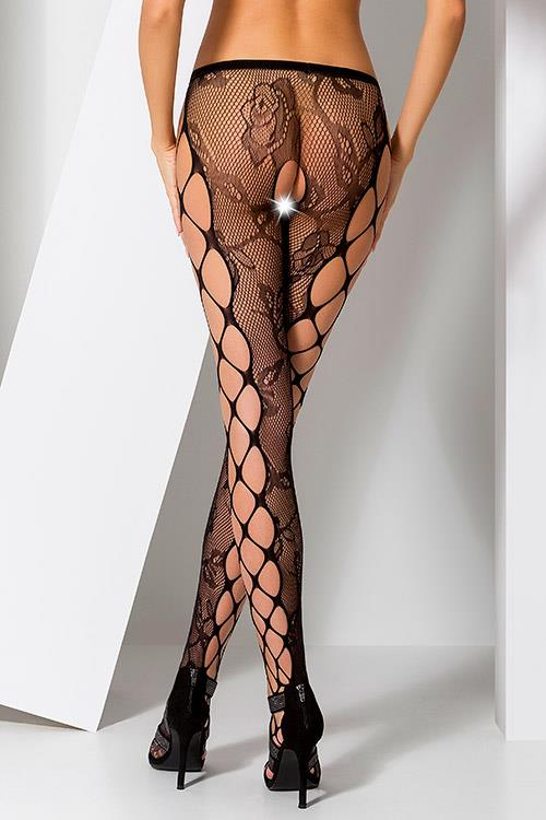 Passion Erotic Rosalie Black High-Waisted Pantyhose