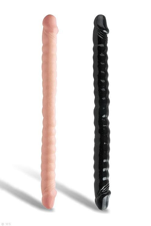 """Pipedream 18"""" Ribbed Double Dong"""