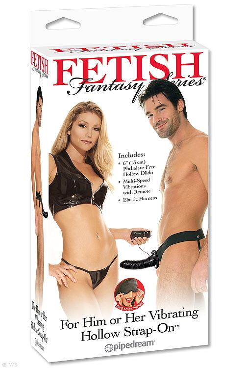 """Pipedream 6"""" Hollow Vibrating Strap-On"""