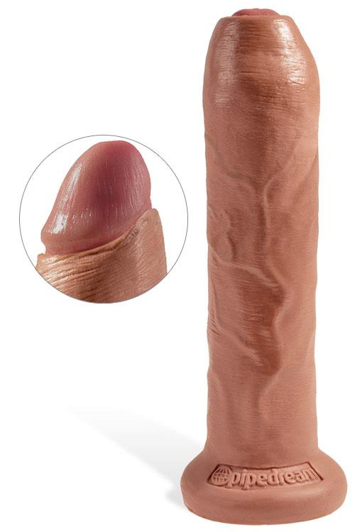 """Pipedream 7"""" Realistic Uncut Dildo with Sliding Foreskin & Suction Base"""